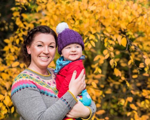 Smiles with his Mummy - baby photos in the Autumn in Lake District