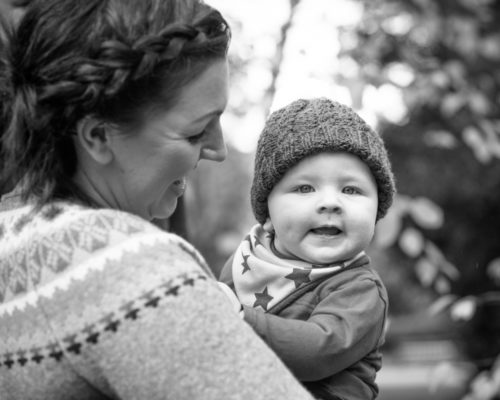 Peekaboo baby Jake for photo session in Cumbria