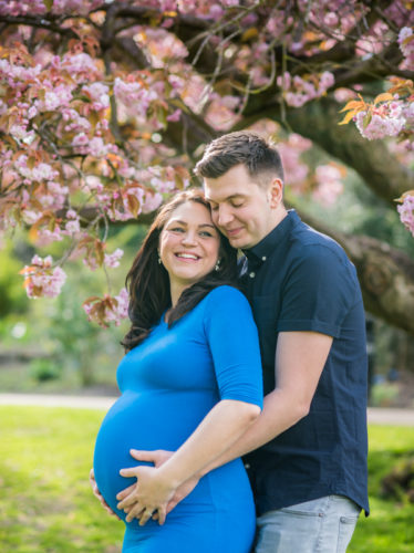 Spring blooms for maternity photography for Radha