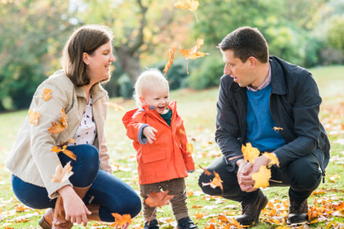 Family fun in the leaves Carlisle family photographer