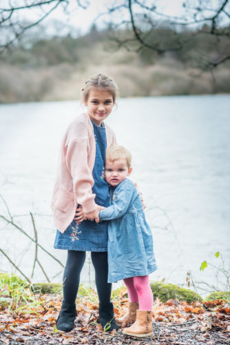 Sisters holding hands, Bassenthwaite family photographers