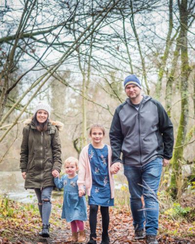 Family walking at Bassenthwaite
