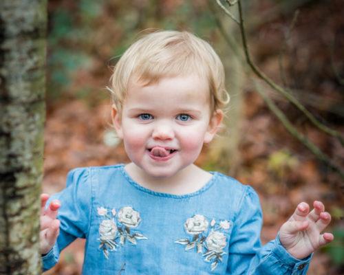 Cheeky Orla - Autumn family portraits Cumbria