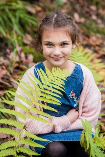 Emilia in the ferns - Cumbria photographers
