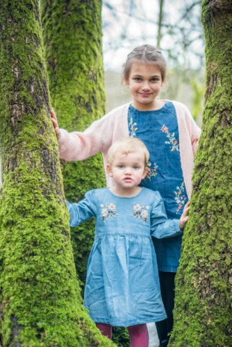 Hiding in a tree, family photographers Cumbria