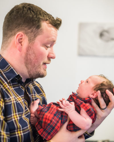Dad and Betsy, newborn photographers Maryport