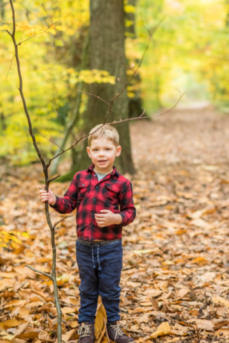 Alfred holding a stick - Carlisle family photographers