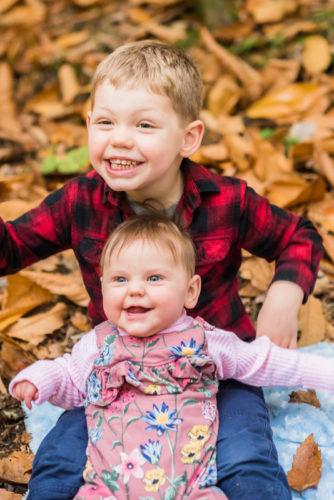 Autumn leaves family portraits Cumbria