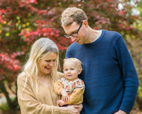 Family cuddles - baby Pearl, Cockermouth baby portraits