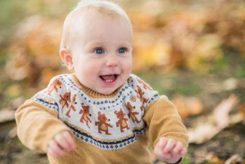 Laughing baby portraits - Keswick baby photographers