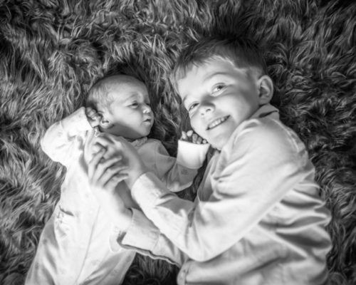 Nova and big brother, baby photographer Gretna