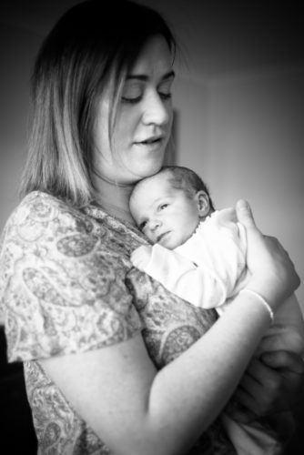 Mum cuddles, baby photographer Bothel