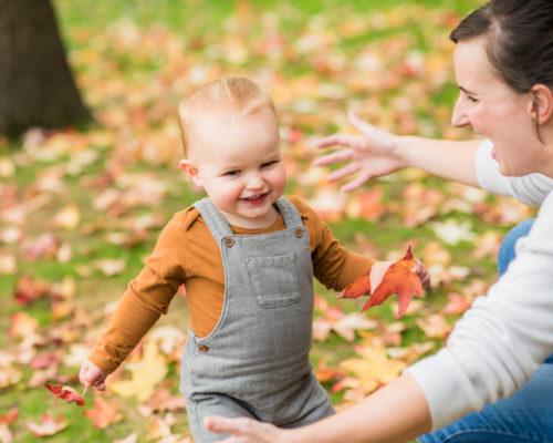 Running to Mum, newborn photographer Cockermouth