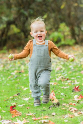 Ethan running, Sheffield baby photographers