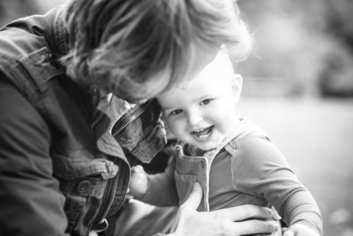 Ethan and Dad cuddles - Workington baby photographers