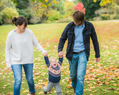 Swinging Ethan with Mum & Dad, Workington baby photographer