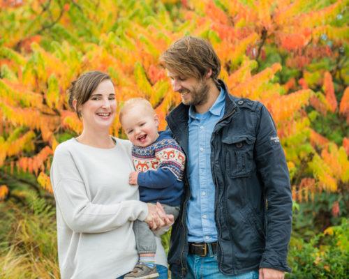Autumn colours family portraits Lake District