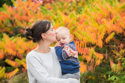 Ethan kisses from Mum - baby photographs Carlisle
