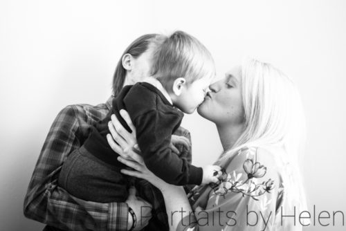 Miles kisses for Mum, Carlisle newborn photographers