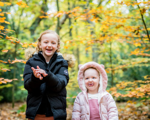 Sisters clapping, Cockermouth baby photographers