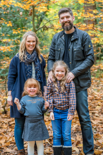 Family portrait in Autumn, baby photographer Carlisle