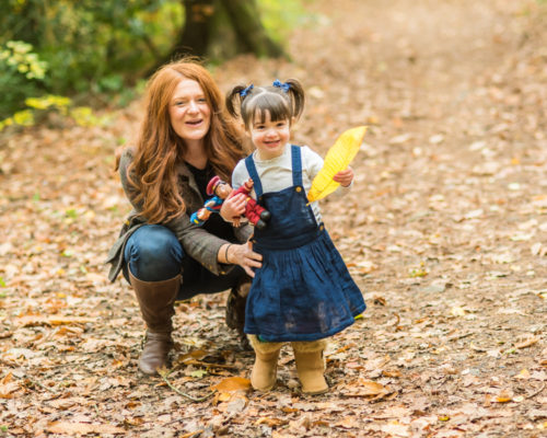 Penny & her Mum, Autumn family portraits