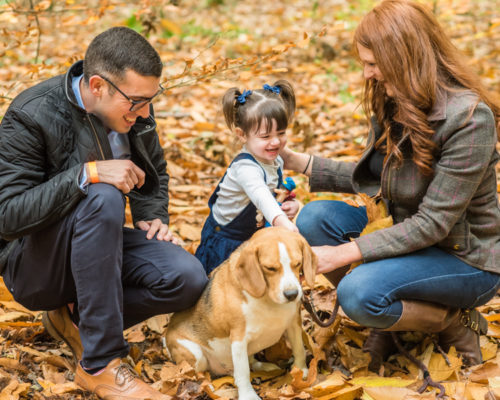 Family photos in the leafs, Carlisle baby photographers