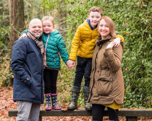 Standing on tree, Carlisle baby photographers