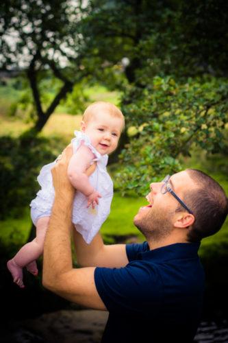 Thrown in air by Dad, newborn photographer Aspatria