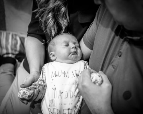 Baby sleeping, newborn photographer Lake District