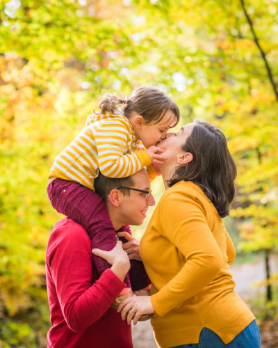 Mum, Dad & baby kisses - Autumn photos Lake District