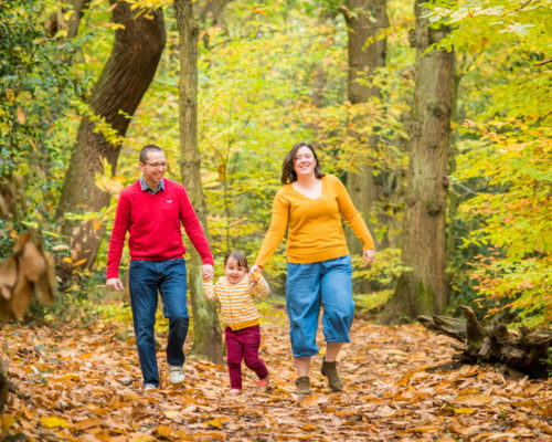 Walking with Mum & Dad, Autumn family portraits