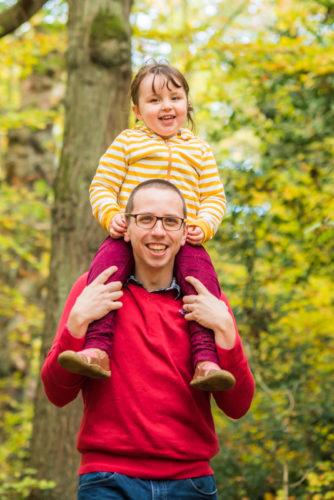 Felicity piggyback with Dad, Keswick family photographers