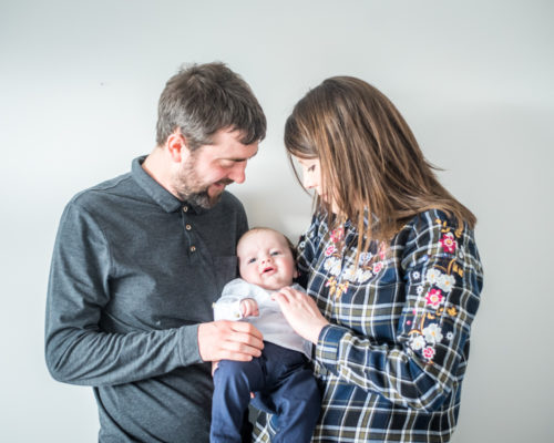 Family photograph, newborn Cumbria