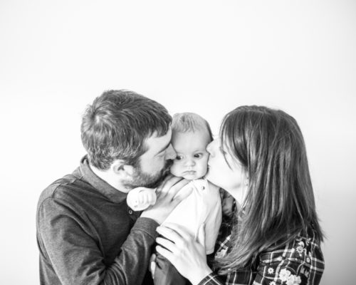 Kisses from Mum & Dad, baby photographers Cumbria