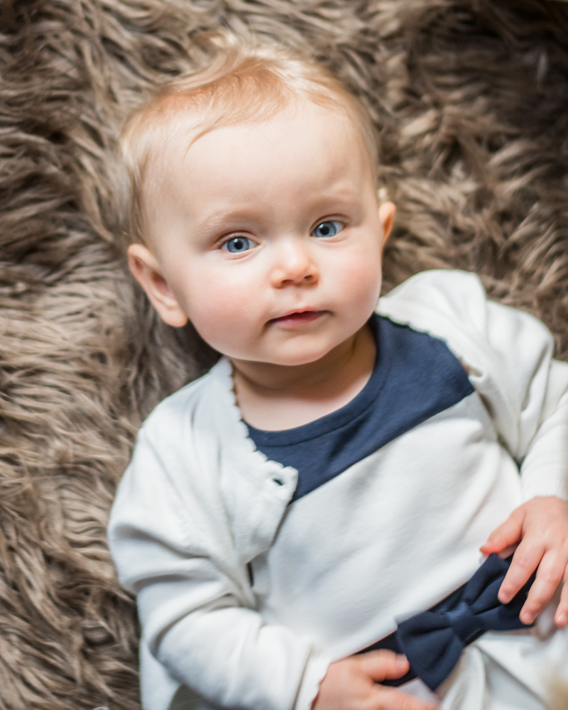 Elysia lying on rug, newborn photographer Cockermouth