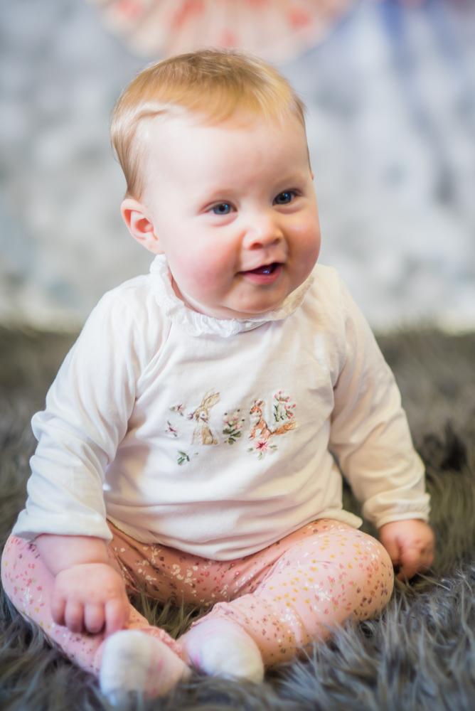 Cheeky smiles for baby, Carlisle family photographers