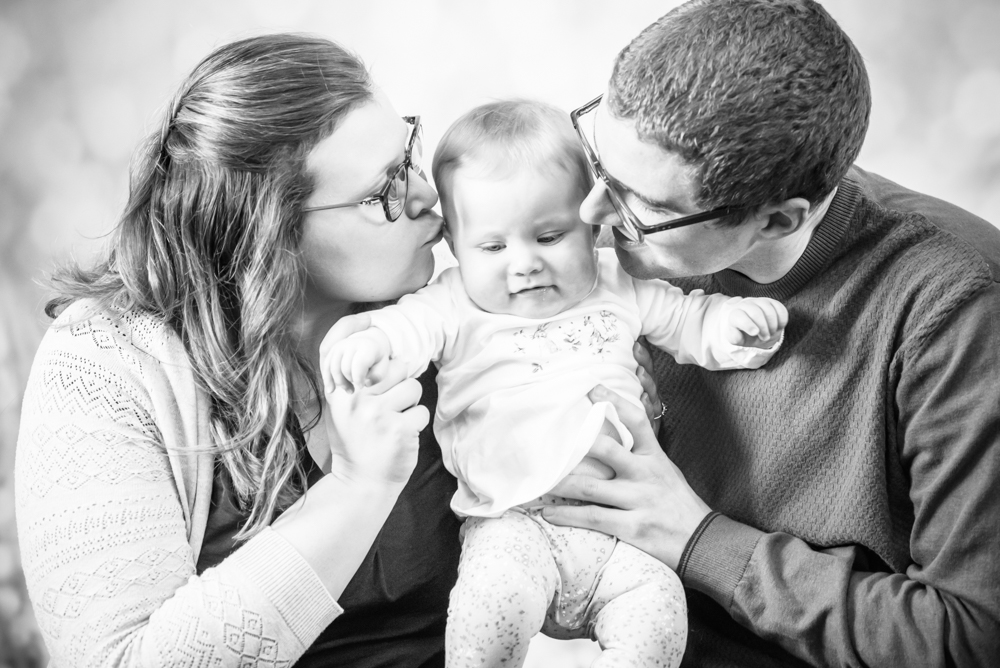 Kisses from Mum and Dad, Carlisle baby photographers