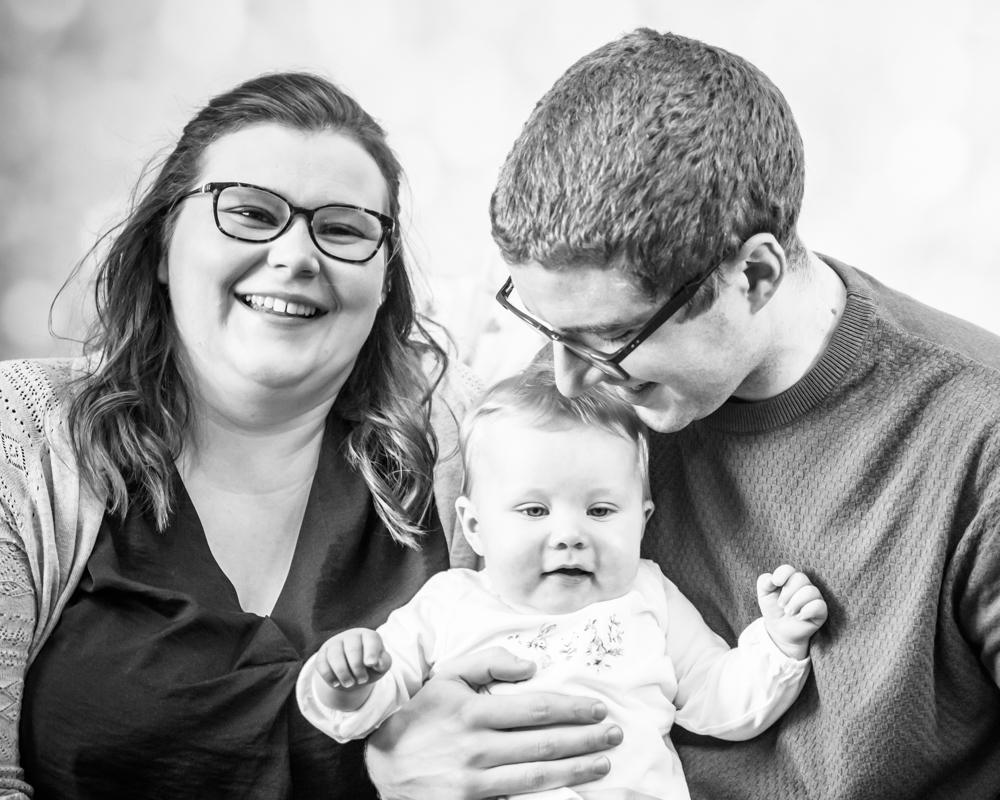 Kisses from Dad, Wigton newborn portraits