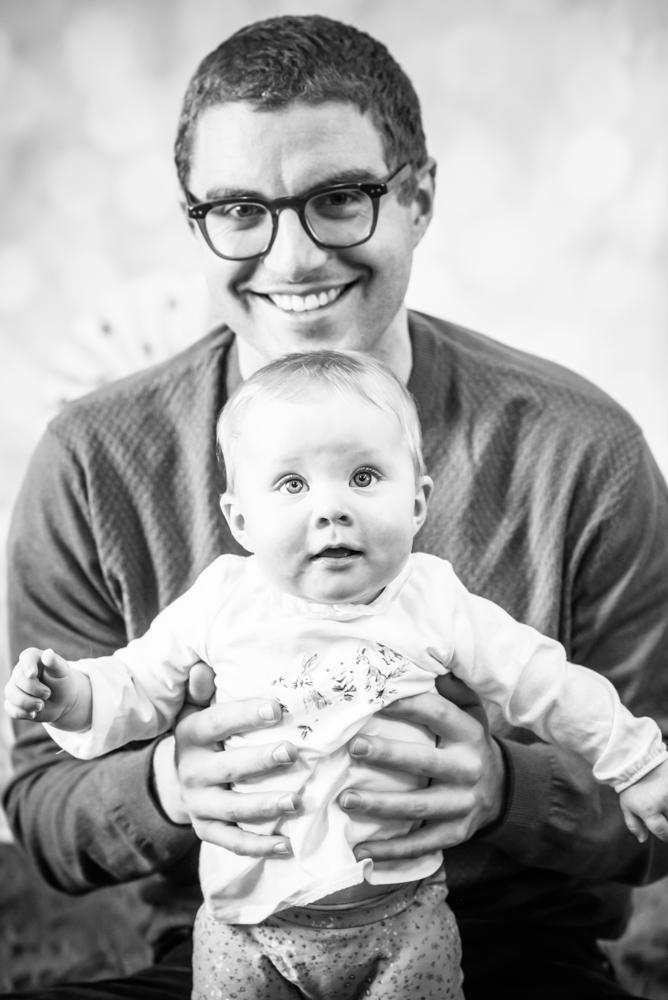Dad holding baby, wigton newborn photographers