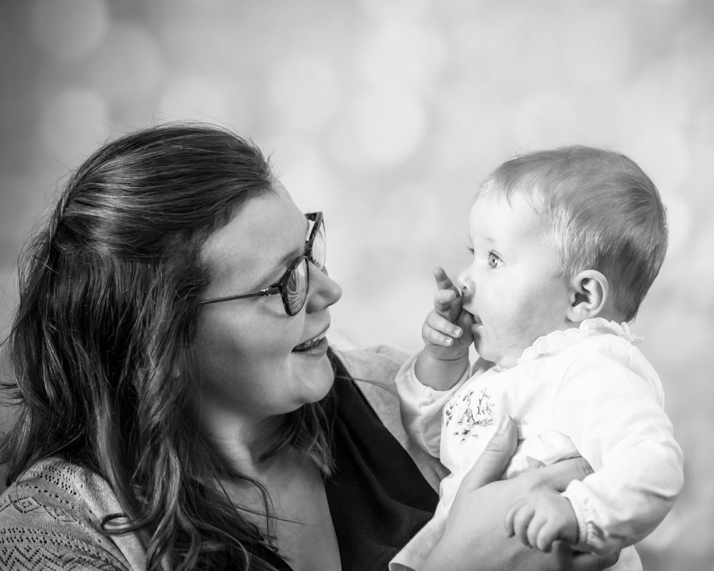 georgie and Mum smiling, baby photographer Carlisle