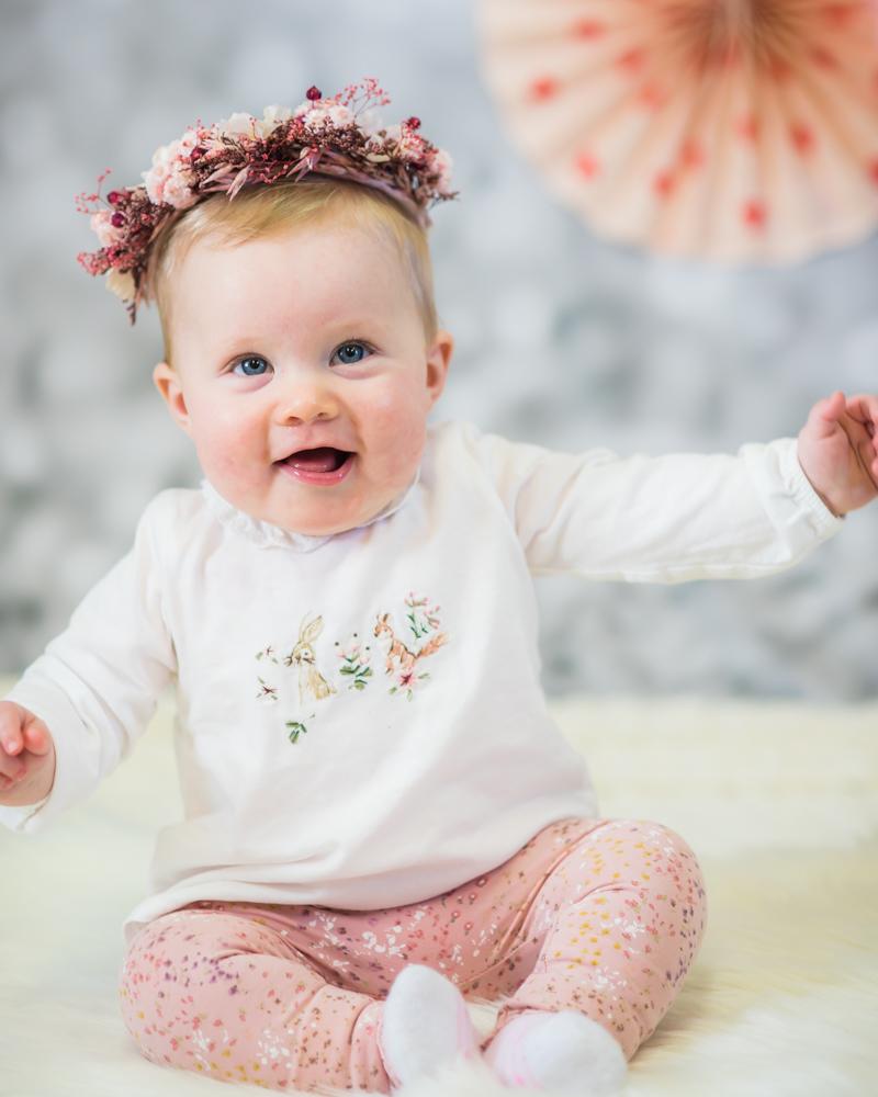 Smiles for baby Georgie, newborn portraits Workington