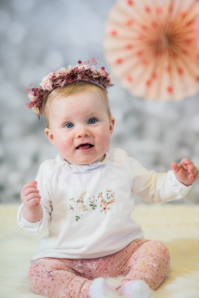 Baby looking at camera, studio baby portraits Wigton