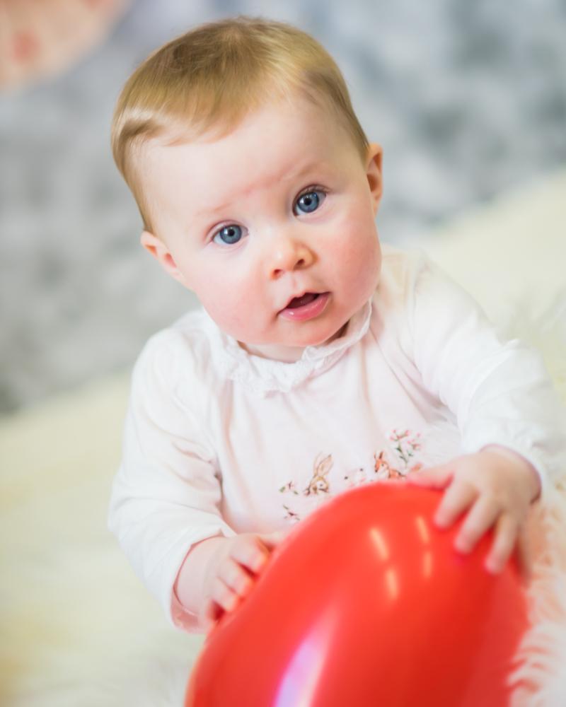 Looking at camera, baby portraits Cumbria