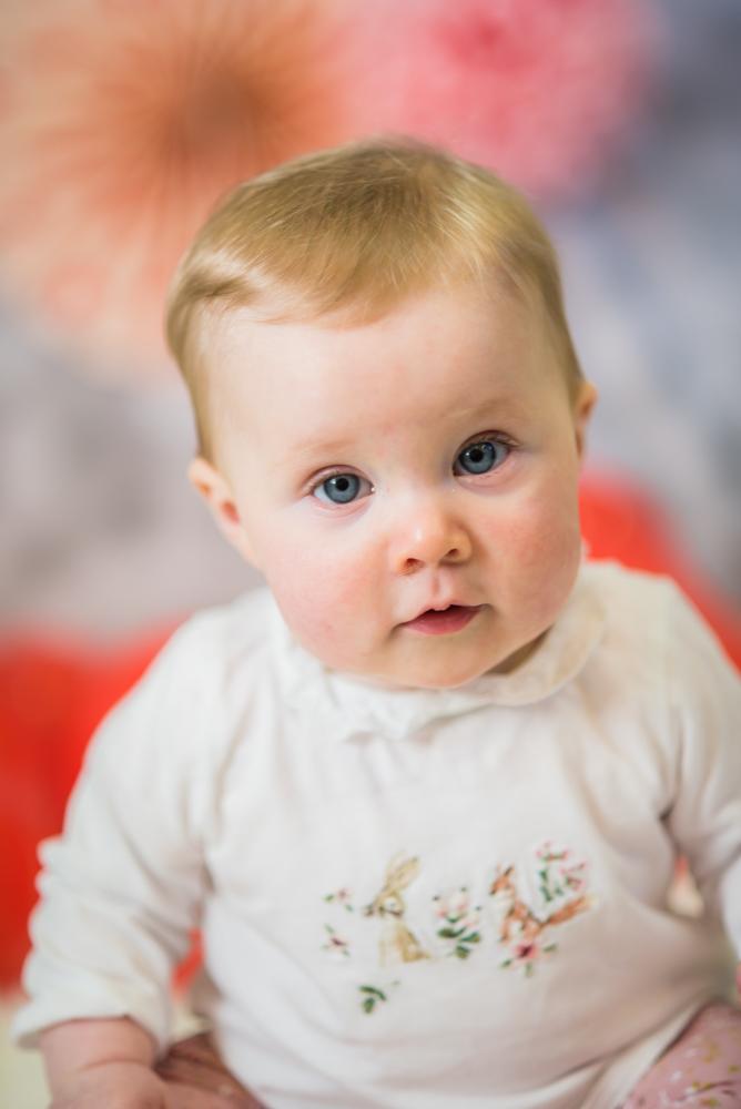 Georgie looking at camera. baby portraits Fletchertown
